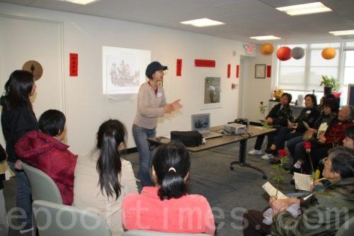「進步會」的劉茂琦小姐在發言。(攝影:吳雅儒/大紀元)