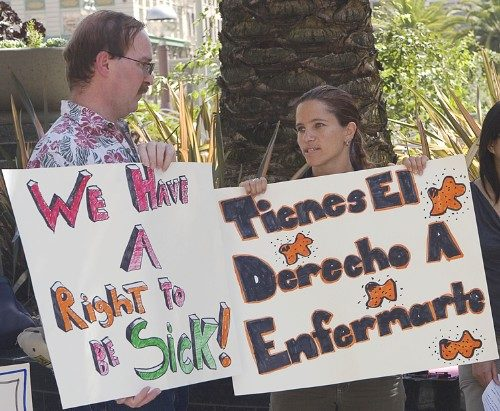 We have a right to be sick! Tienes El Derecho A Enfermarte